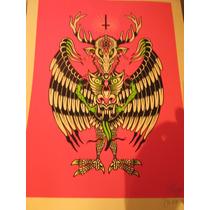 Serigrafia Original Dr. Alderete Y Toño Camuñas Demonio Arte