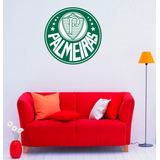 Escudo Adesivo Palmeiras Futebol Com Fundo 48cm X 48cm Sala