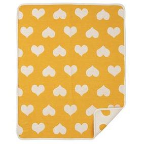 Manta De Algodón Orgánico Amore Amarillo 70x90 Cm Klippan