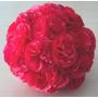 Esferas Con Flores De Papel - Colgantes O Centros De Mesa