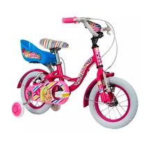 Bicicleta Barbie Rodado 12 Portamuñecas Ruedas Con Camara