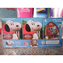 Huevo Sorpresa Tipo Kinder Snoopy Charly Brown 6pz Chocolate