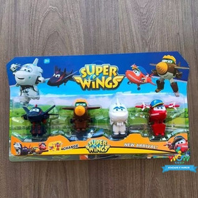 4 Novos Super Wings Transformes Astra Flip Tood Chase A022