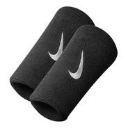 Muñequeras Nike Swoosh Wristband Double Wide Negro 0011