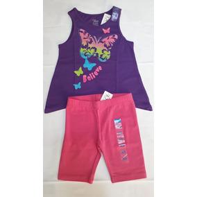 Conj Bluson Y Shorts Rosa Nina Talla 4 Nuevo Tc Place