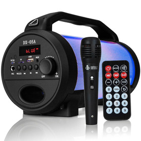 Caixa De Som Bluetooth Canhão Portátil Bass Mp3 Fm Usb Sd