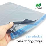 500 Envelopes De Segurança 36x45 Sacos Plástico Aba Adesiva