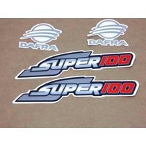 Adesivo Dafra Super 100 Vermelha / Preta