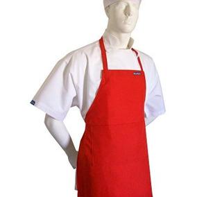 Disfraz Para Niño Conjunto Del Rojo Delantal Blanco Sombrer