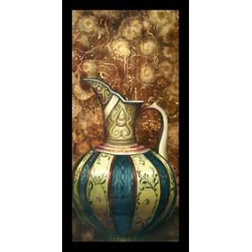 Cuadro Oleo Jarron Arabe Pintura A Mano Arte Profesional