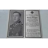 Cartão Falecimento Soldado Alemão Ww2 Georg Stiegler