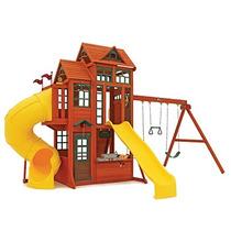Juegos Para Niños Con Resvaladilla Y Columpios Madera