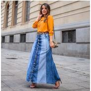 Saia Longa Jeans Joyaly Ref. 11203