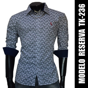 Camisa Social Slim Fit Tk-236, Frete Fixo R$ 15,00 Brasil