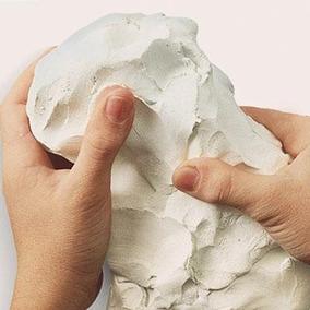 Massa De Modelar Modeling Clay Plastilina Branca 500gr