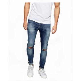 Calça Jeans Premium Rasgada Super Skinny Lycra Offert