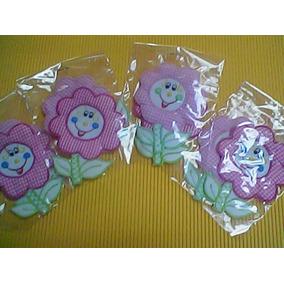Set De 5 Flores Aplicación Tela Ropa-lencería Bebé Niña T.1