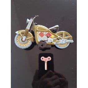 Brinquedo De Lata - Motocicleta A Corda