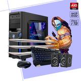 Cpu Gamer Amd A10 9700 Ram 16gb Hd 1tb Gabinete Kit Completo
