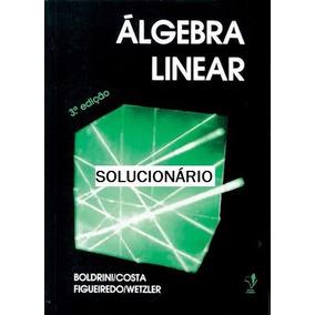 Solucionário Parcial -álgebra Linear Boldrini