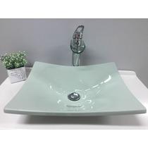 Cuba/pia De Apoio P/banheiro Formato Folha Bari -verde Acqua