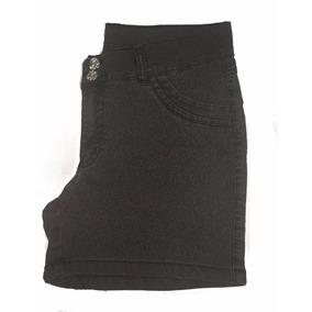 Short Feminino Onça Black Plus Size Pequenos Defeitos 48