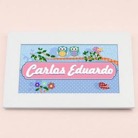 Carlos Eduardo Enfeite Porta Maternidade Con Nome: Design 16