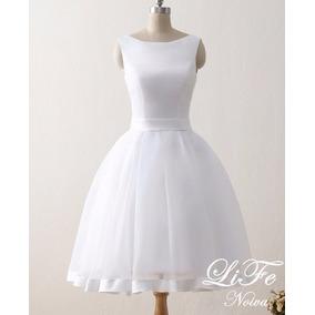 Vestido Curto Noiva Casamento Civil Festa