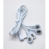 Cabo Ten Fes 4 Plugs Reposição + 4 Eletrodos Fisioterapia