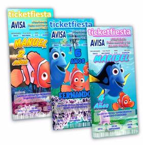 100 Invitaciones Impresas Buscando A Dory Nemo Envio Gratis