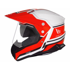 Capacete Mt Sv Duo Sport Cross Vintage White/orange