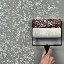 Rolo Pintura Decorativa Papel De Parede Pássaros