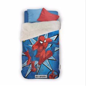 Frazada Spider Man/hombre Araña C/ Corderito Piñata Original