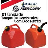 Galão Bombona Tanque Combustível Gasolina Bico Retrátil 10 L