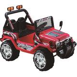 Jeep 12v Dobleasiento Rojo