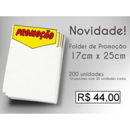 Cartaz   Promoção   - Sulfite - 25x17cm - 200 Un