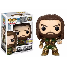 Funko Pop Sdcc Justice League Aquaman With Motherbox