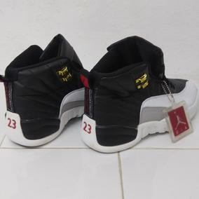 Tenis Nike Air Jordan 12 Retro Negro/blanco; Envío Gratis