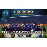 Poster Cruzeiro Campeão 2017 Copa Brasil 90x60cm