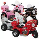 Mini Moto Eletrica Infantil Triciclo Policia Melhor 6v F Gr