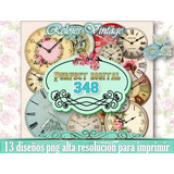 Relojes Png Vintage Antiguo Shabby Chic Decoupage Scrapbook