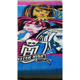 Manta Cobertor Anti-alérgico Infantil Monster High 140x2,10m