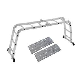 Escada Multifuncional 4 X 3 Em Alumínio 12 Degraus - Mor