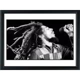 Cuadros De Bob Marley! Marco Madera+vidrio+foto! Decoracion!