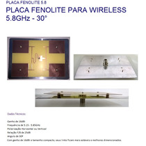 Placa De Fenolite Setorial Wireless 16 Dbi 5.8 Ghz 30° Wifi