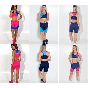 Conjunto Bermuda E Top Feminino Roupas Femininas Fitness