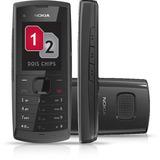 Celular Nokia X1-01 Preto Dual Chip C/ Rádio Fm - Vitrine