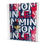 Caderno Universitário 10x1 Foroni 200 Folhas - Minions Capa