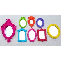 Kit 8 Mini Espelhos Ou Molduras Coloridass + Brinde