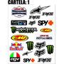 Cartela Adesivo Motocross Lucas Oil Fmf Fox Monster Red Bull